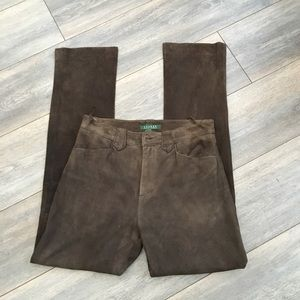 Ralph Lauren Suede Pants